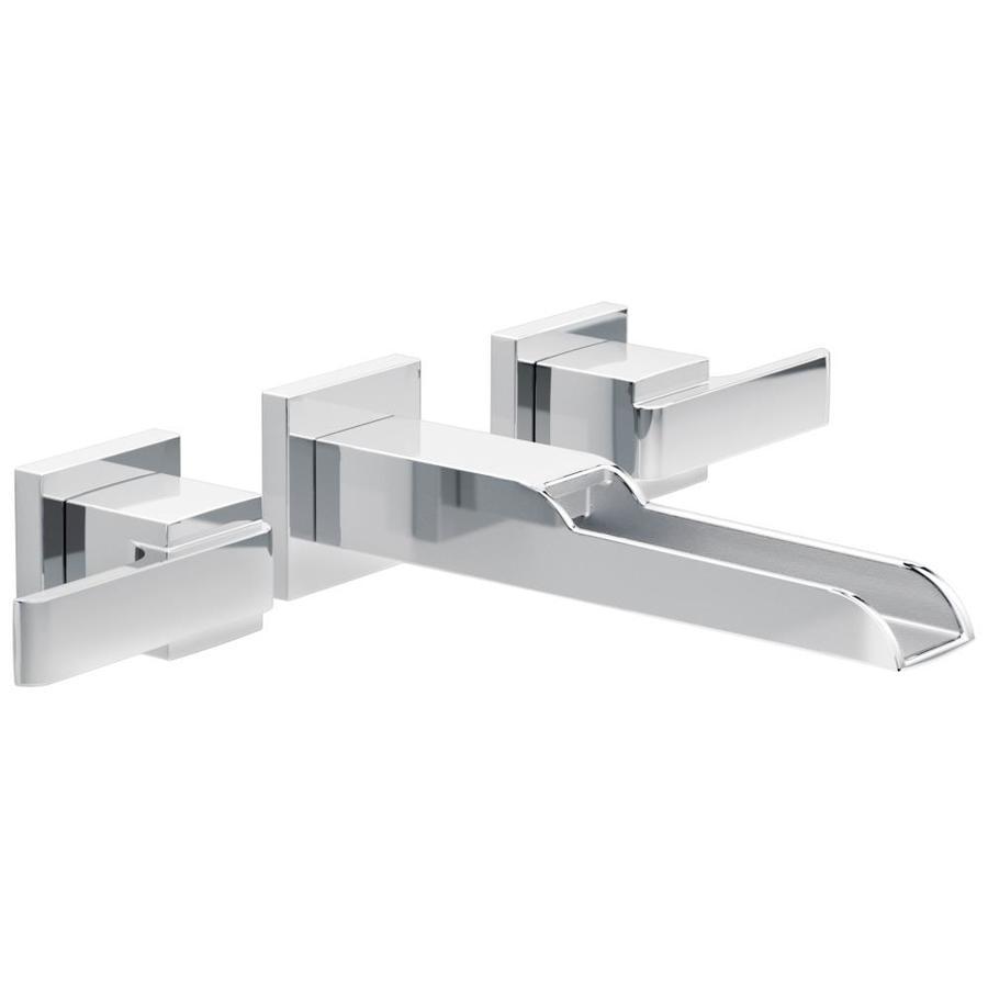 Delta Ara Chrome 2-Handle 4-in Centerset WaterSense Bathroom Faucet