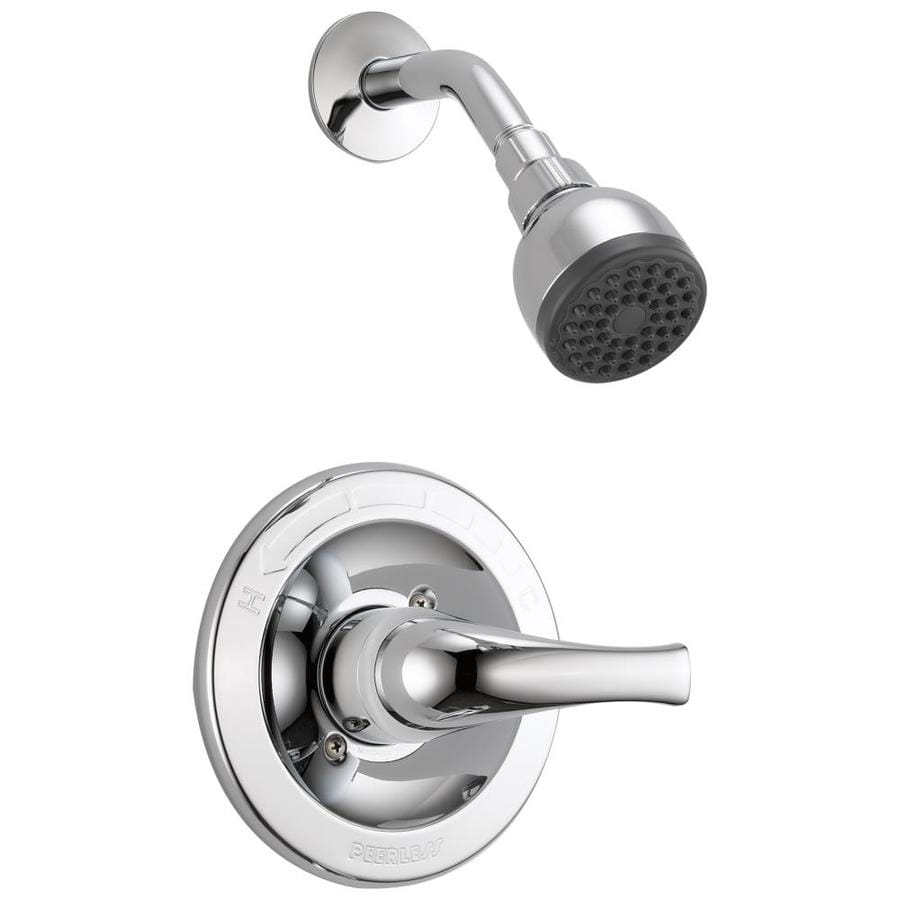 Peerless Choice Chrome 1-Handle WaterSense Shower Faucet Trim Kit with Single Function Showerhead