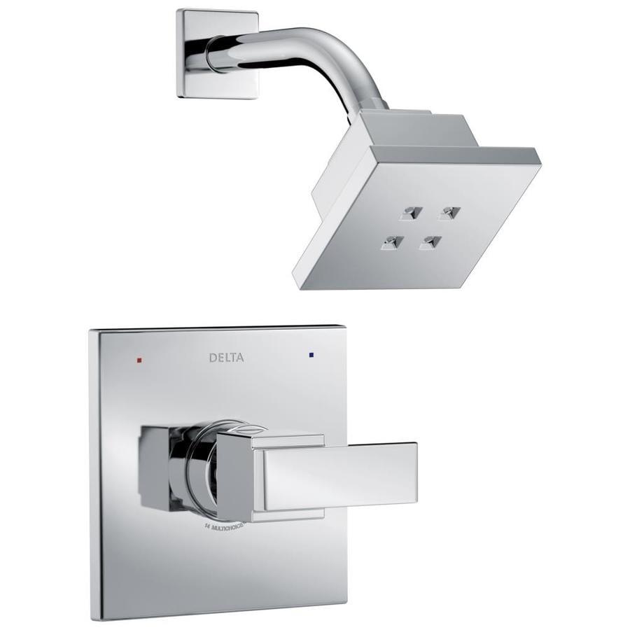 Delta Ara Chrome 1-Handle WaterSense Shower Faucet Trim Kit with Single Function Showerhead