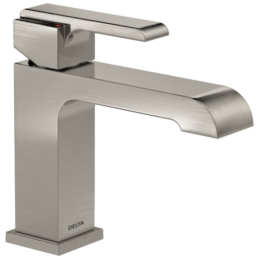 Delta Ara Stainless 1-Handle 4-in Centerset WaterSense Bathroom Faucet (Drain Included)