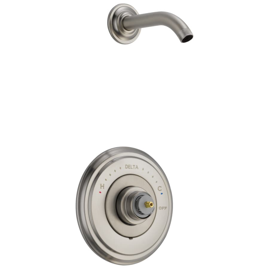 Delta Cassidy Stainless 1-Handle Shower Faucet Trim Kit with Sold Separately Showerhead