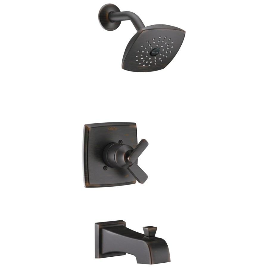 Delta Ashlyn Venetian Bronze 1-Handle WaterSense Bathtub and Shower Faucet Trim Kit with Single Function Showerhead