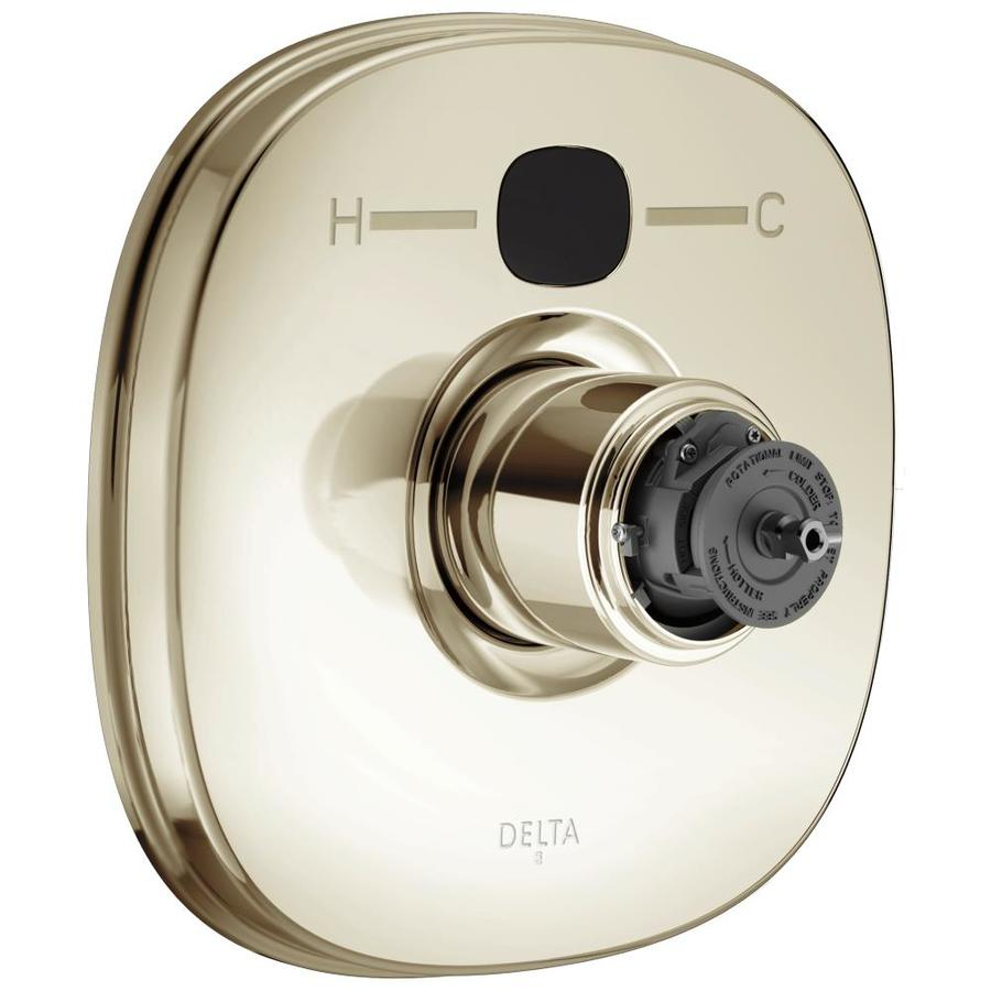 Delta Polished Nickel 1-Handle Shower Faucet Trim Kit with Sold Separately Showerhead