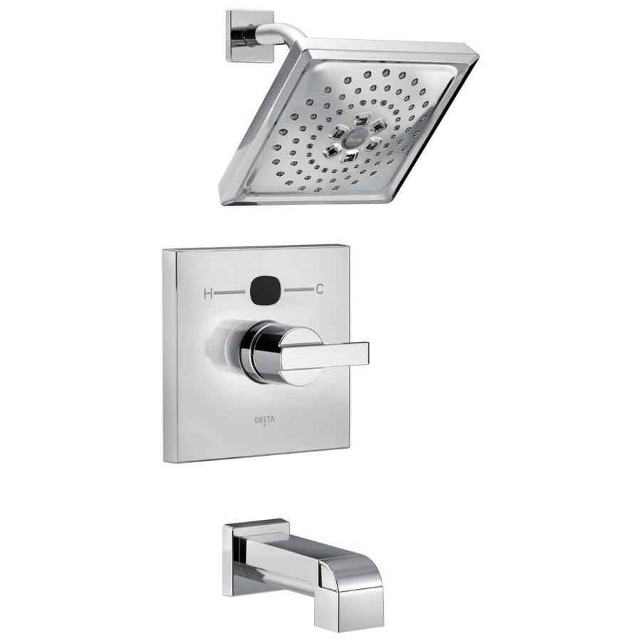 Delta Chrome 1-Handle WaterSense Bathtub and Shower Faucet Trim Kit with Single Function Showerhead