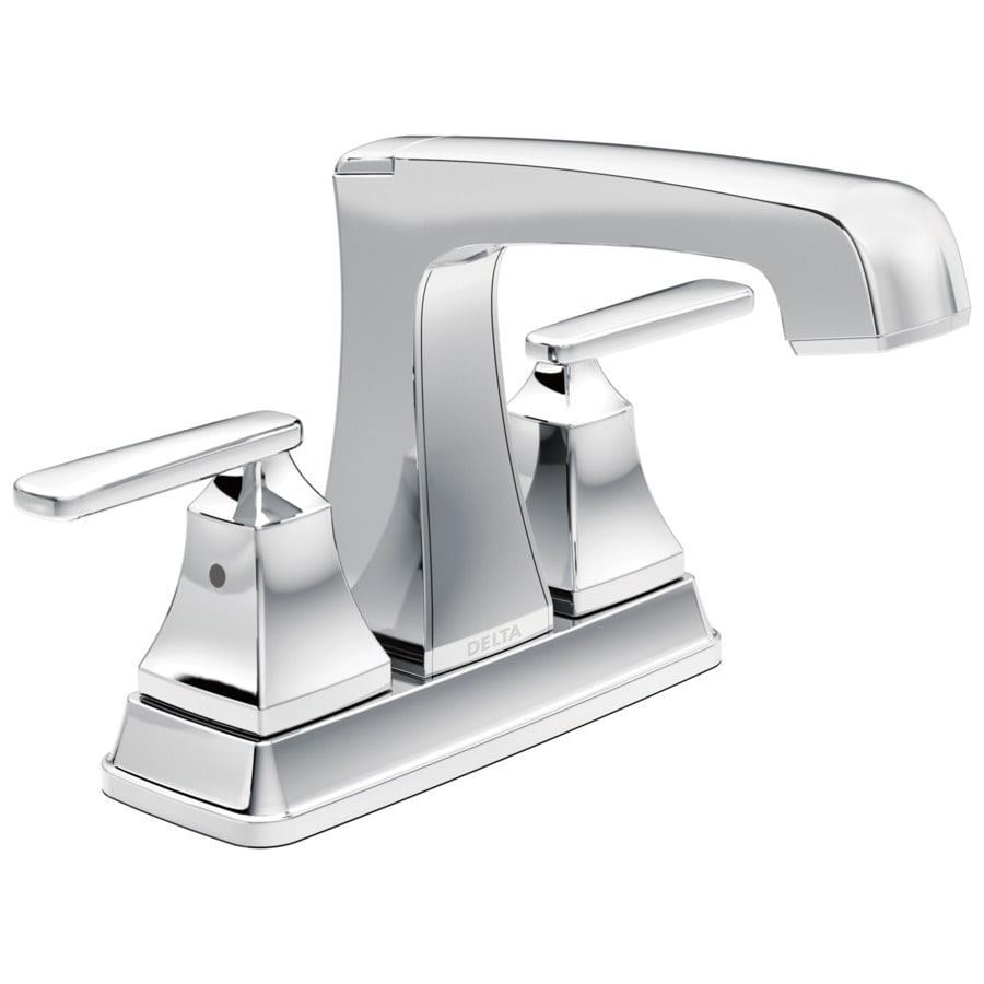 Delta Ashlyn Chrome 2-Handle 4-in Centerset WaterSense Bathroom Faucet (Drain Included)