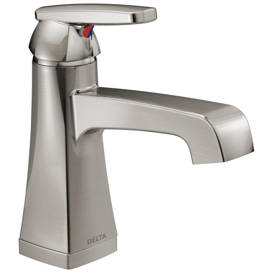 Delta Ashlyn Stainless 1-Handle 4-in Centerset WaterSense Bathroom Faucet (Drain Included)
