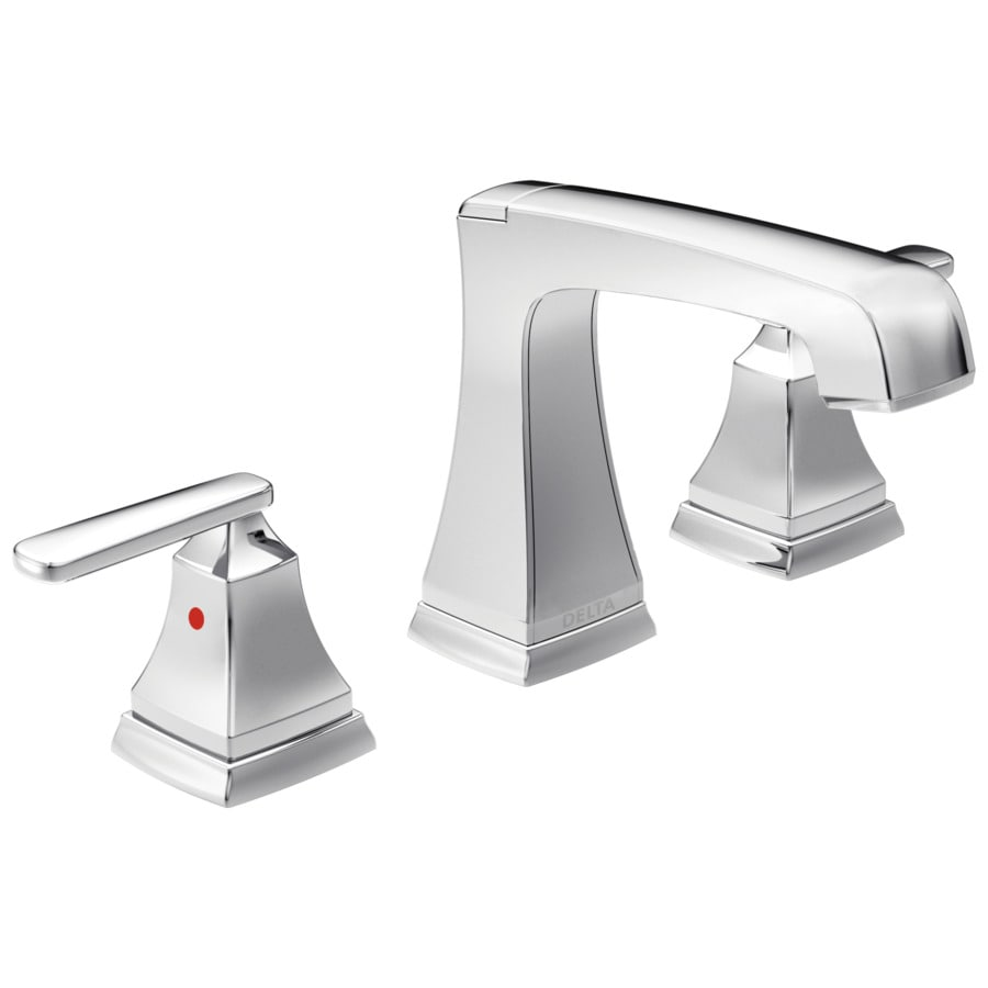 Delta Ashlyn Chrome 2-Handle 4-in Centerset WaterSense Bathroom Faucet (Drain Included)