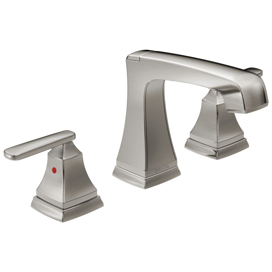 Delta Ashlyn Stainless 2-Handle 4-in Centerset WaterSense Bathroom Faucet (Drain Included)