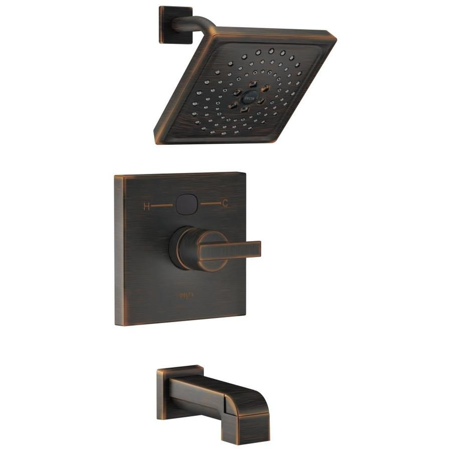 Delta Venetian Bronze 1-Handle WaterSense Bathtub and Shower Faucet Trim Kit with Single Function Showerhead