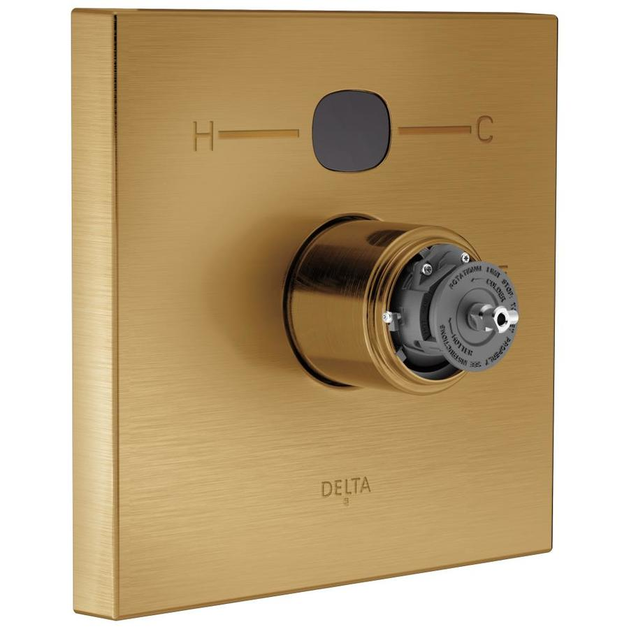 Delta Champagne Bronze 1-Handle Shower Faucet Trim Kit with Sold Separately Showerhead