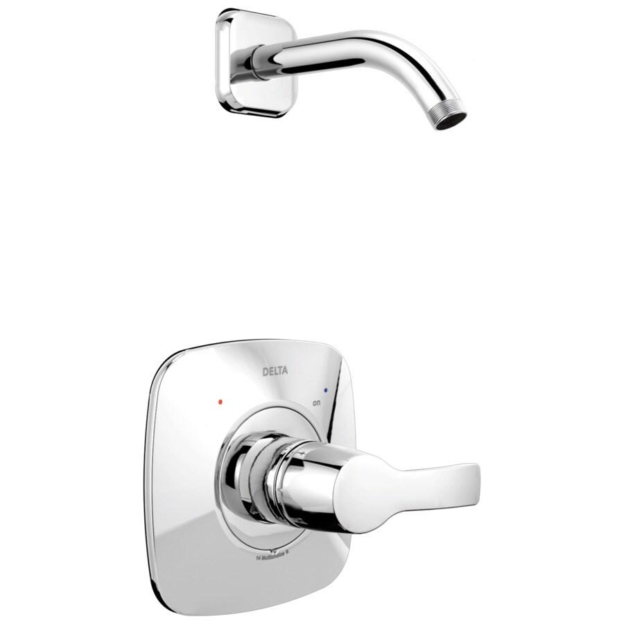 Delta Tesla Chrome 1-Handle Shower Faucet Trim Kit with Sold Separately Showerhead