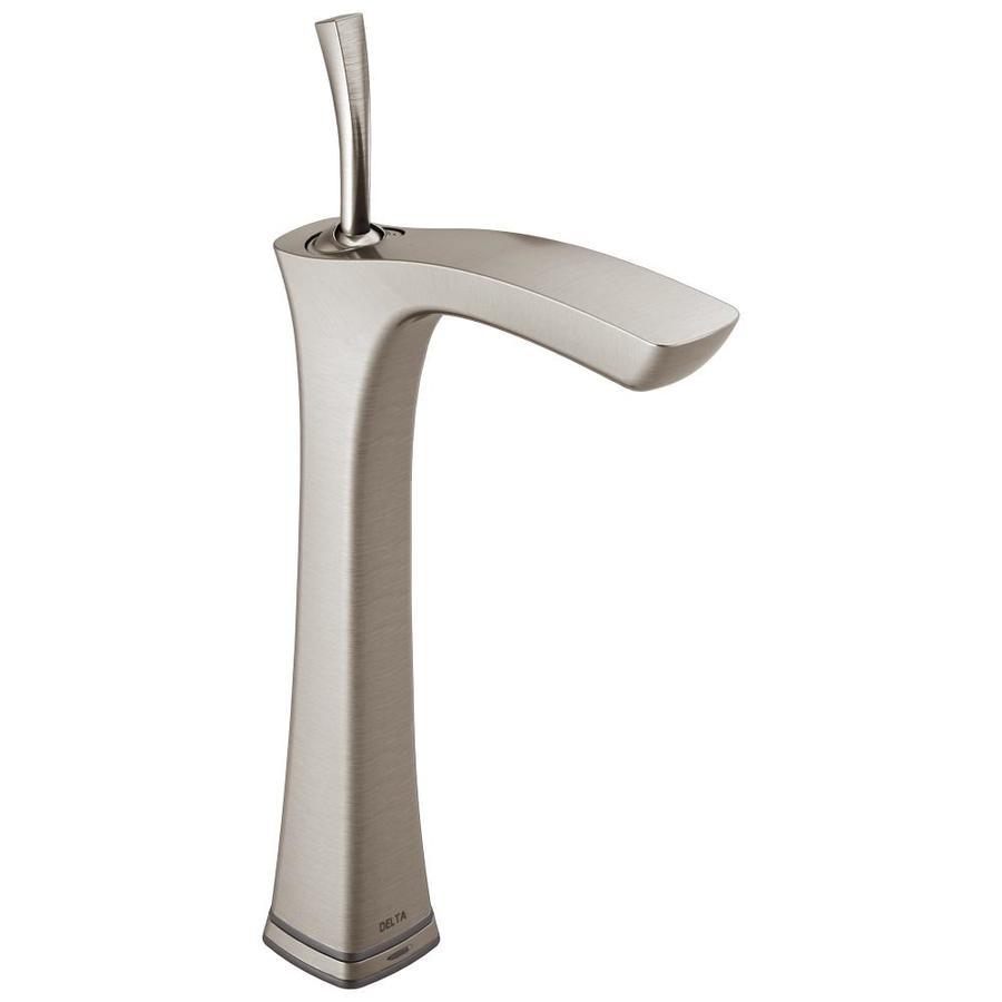 Delta Tesla Stainless 1-Handle 4-in Centerset WaterSense Bathroom Faucet