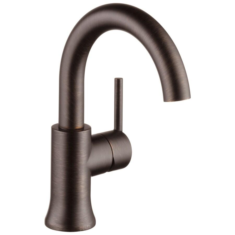 Delta Trinsic Venetian Bronze 1-Handle 4-in Centerset WaterSense Bathroom Faucet