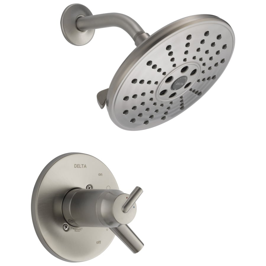 Delta Trinsic Stainless 2-Handle WaterSense Shower Faucet Trim Kit with Single Function Showerhead