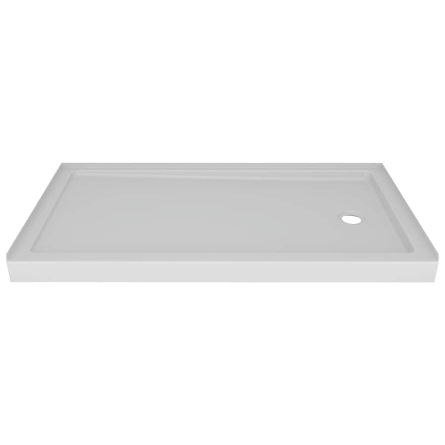 Laurel High Gloss White Acrylic Shower Base (Common: 60-in W x 32-in L; Actual: 59.875-in W x 30.75-in L) Product Photo