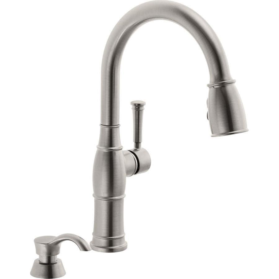 Delta Valdosta Spotshield Stainless 1-Handle Pull-Down Kitchen Faucet