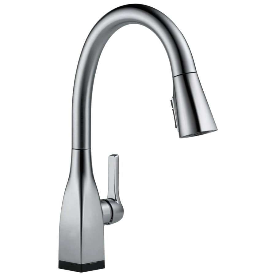 delta mateo touch2o arctic stainless 1 handle pull down touch kitchen touch2o champagne bronze 1 handle pull down touch kitchen faucet