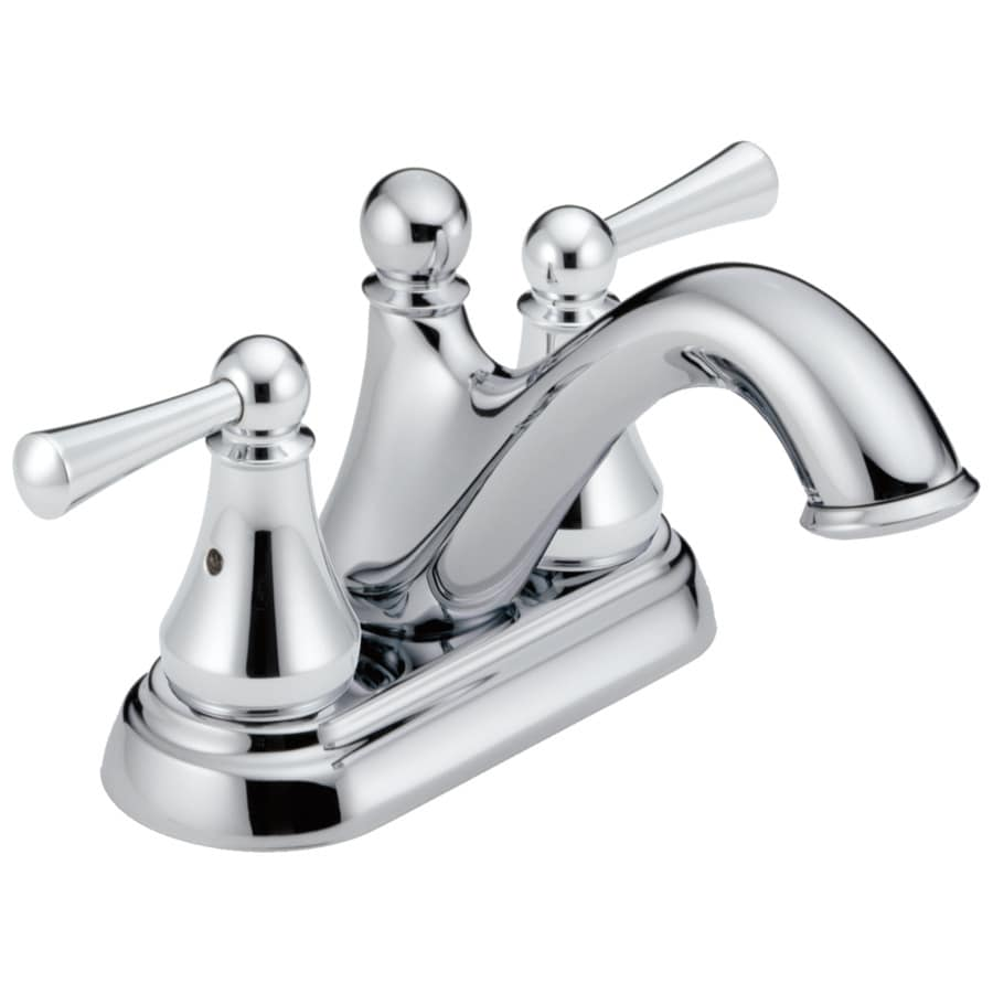 Delta Haywood Chrome 2-Handle 4-in Centerset WaterSense Bathroom Faucet (Drain Included)