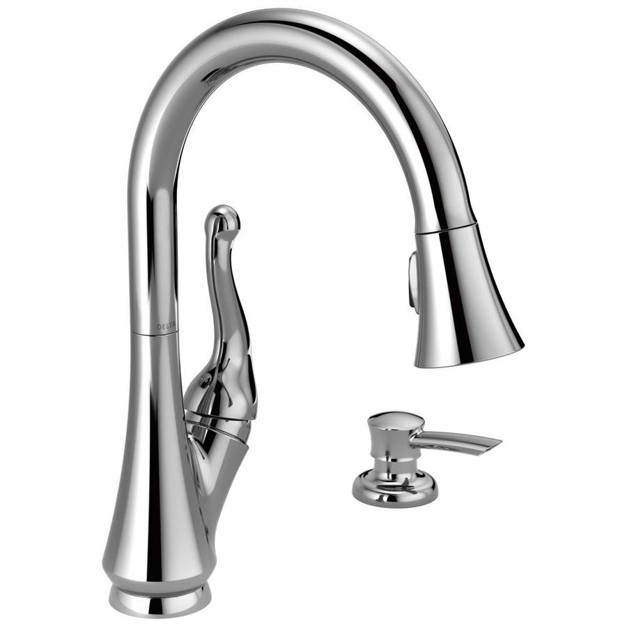Delta Talbott Chrome 1-Handle Pull-Down Kitchen Faucet