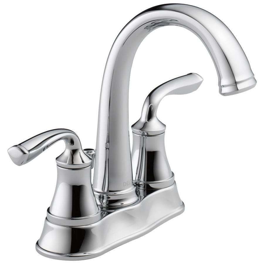 Delta Lorain Chrome 2-Handle 4-in Centerset WaterSense Bathroom Faucet (Drain Included)