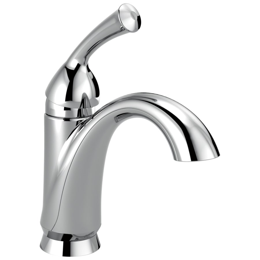 Delta Haywood Chrome 1-Handle 4-in Centerset WaterSense Bathroom Faucet (Drain Included)