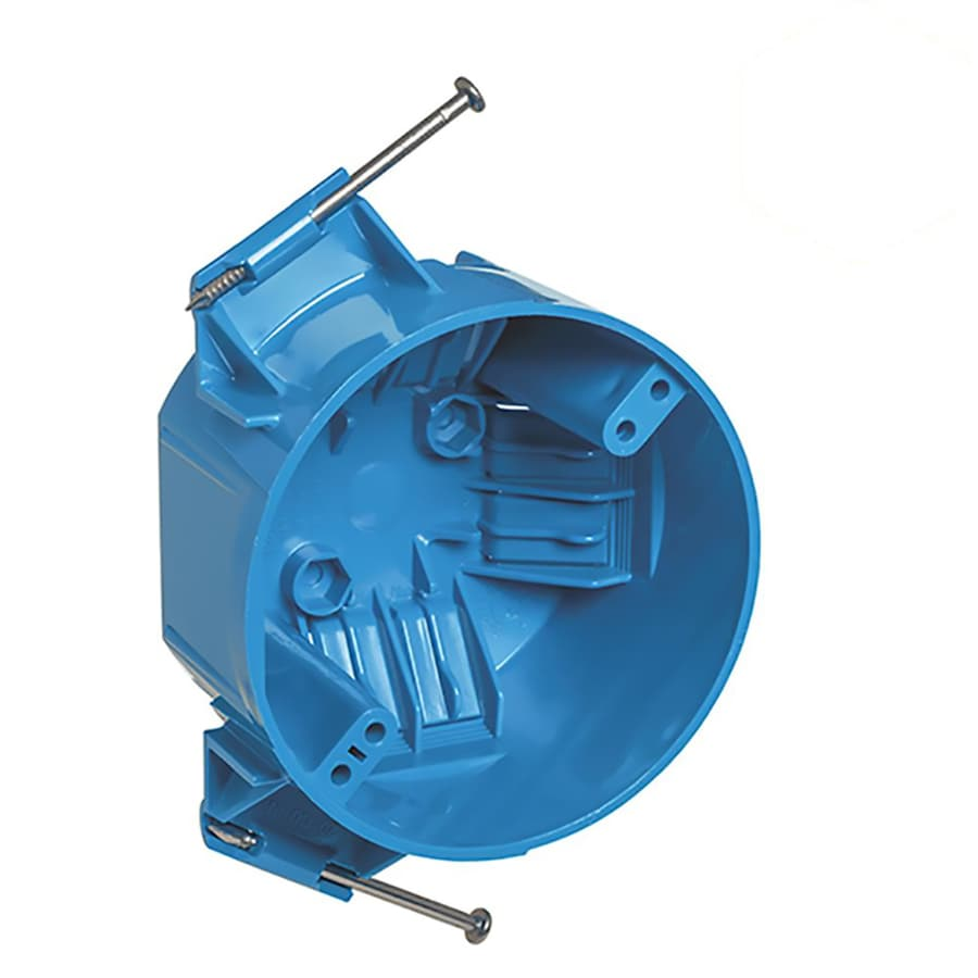 CARLON 1-Gang Blue PVC Interior New Work Standard Round Ceiling Electrical Box