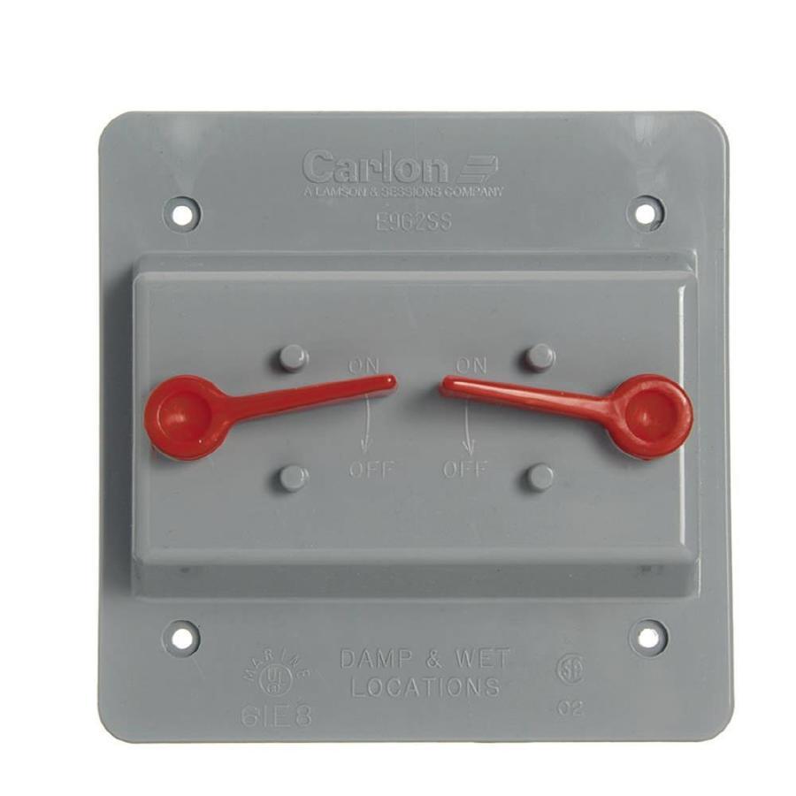 Plastic Weatherproof Electrical Boxes: Shop CARLON 2-Gang Rectangle Plastic Weatherproof
