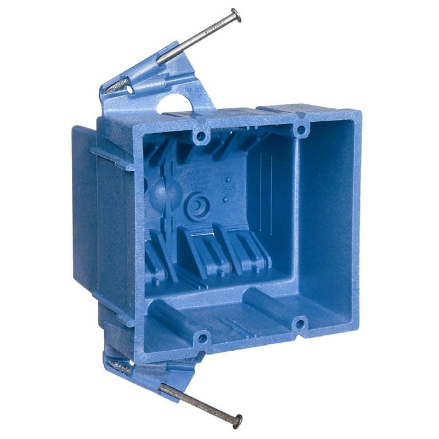 CARLON 35-cu in 2-Gang Plastic New Work Wall Electrical Box