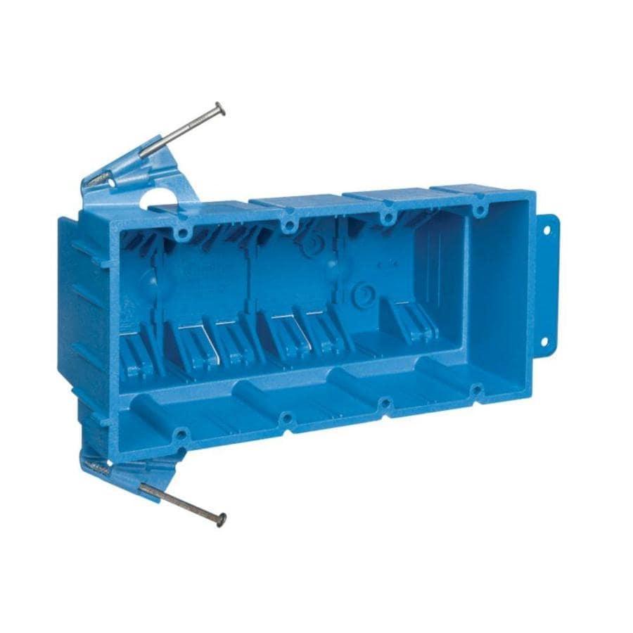 CARLON 64-cu in 4-Gang Plastic New Work Wall Electrical Box