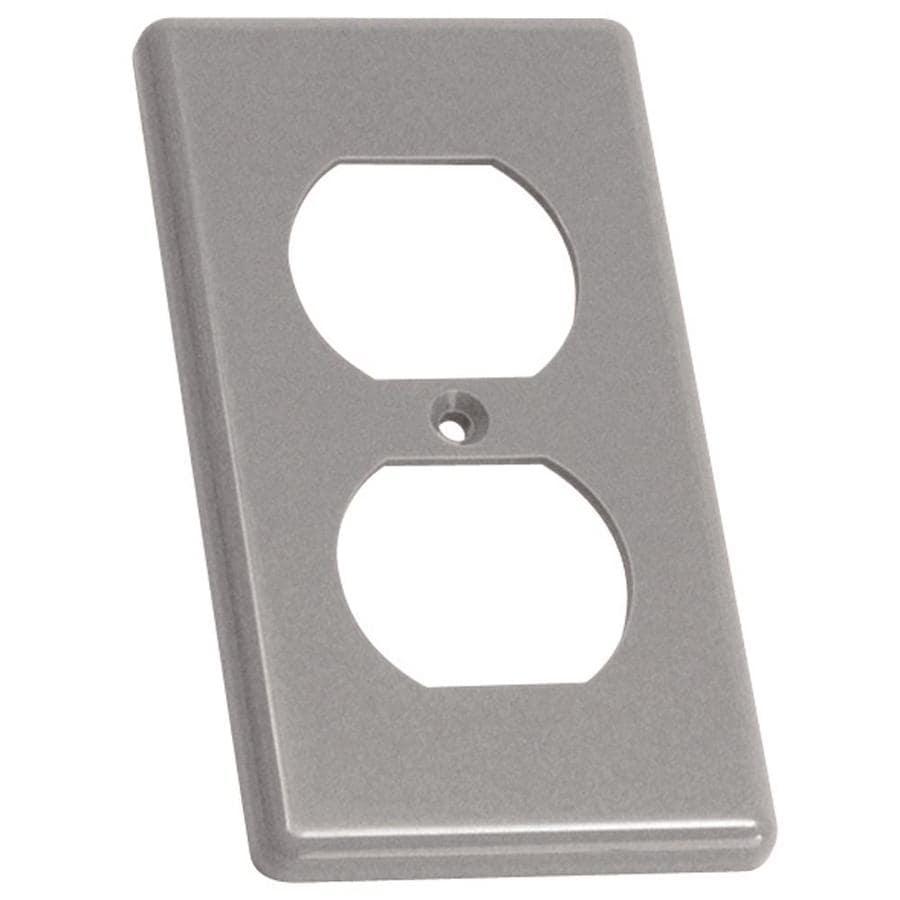 CARLON 1-Gang Rectangle Plastic Electrical Box Cover