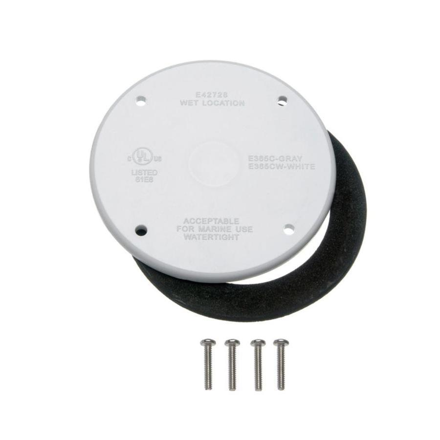 CARLON Round Plastic Weatherproof Electrical Box Cover