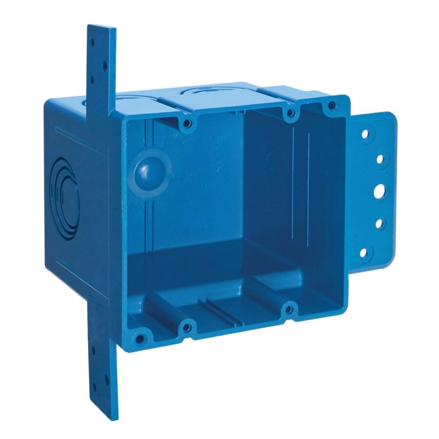 Pvc Electrical Boxes : Carlon old work plastic electrical box free