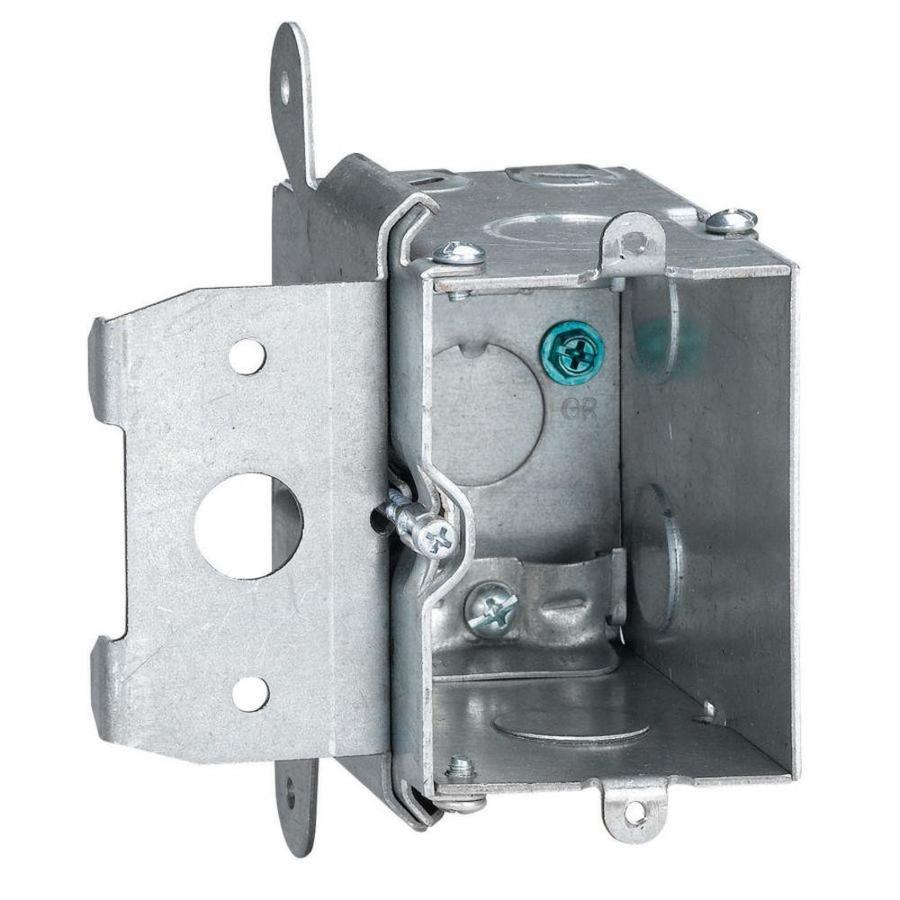 STEEL CITY 20-cu in 1-Gang Metal Adjustable Wall Electrical Box