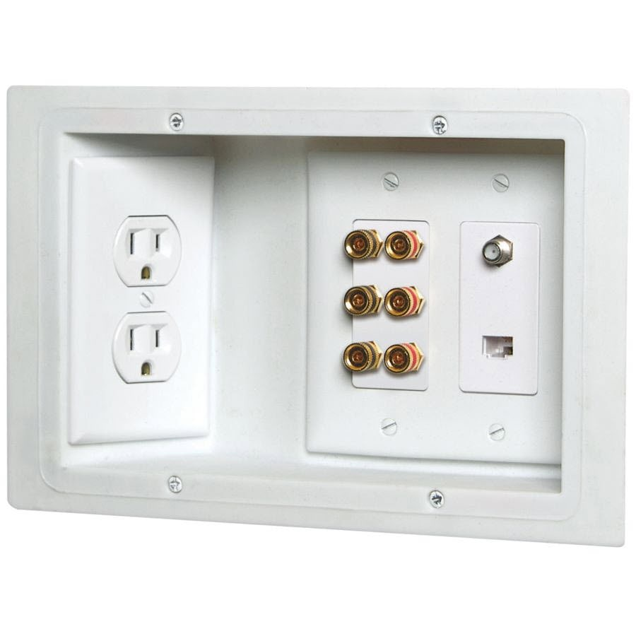 CARLON 3-Gang Plastic Low Voltage Wall Electrical Box