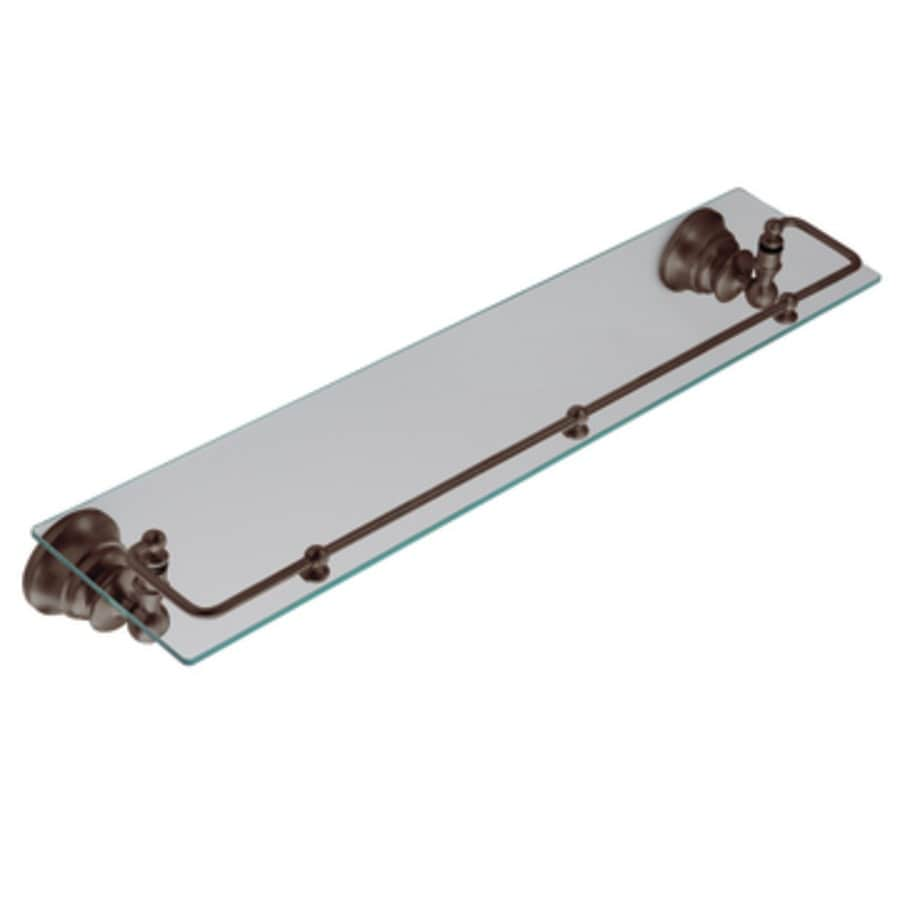 Shop Moen Waterhill Oil Rubbed Bronze Glass Bathroom Shelf At