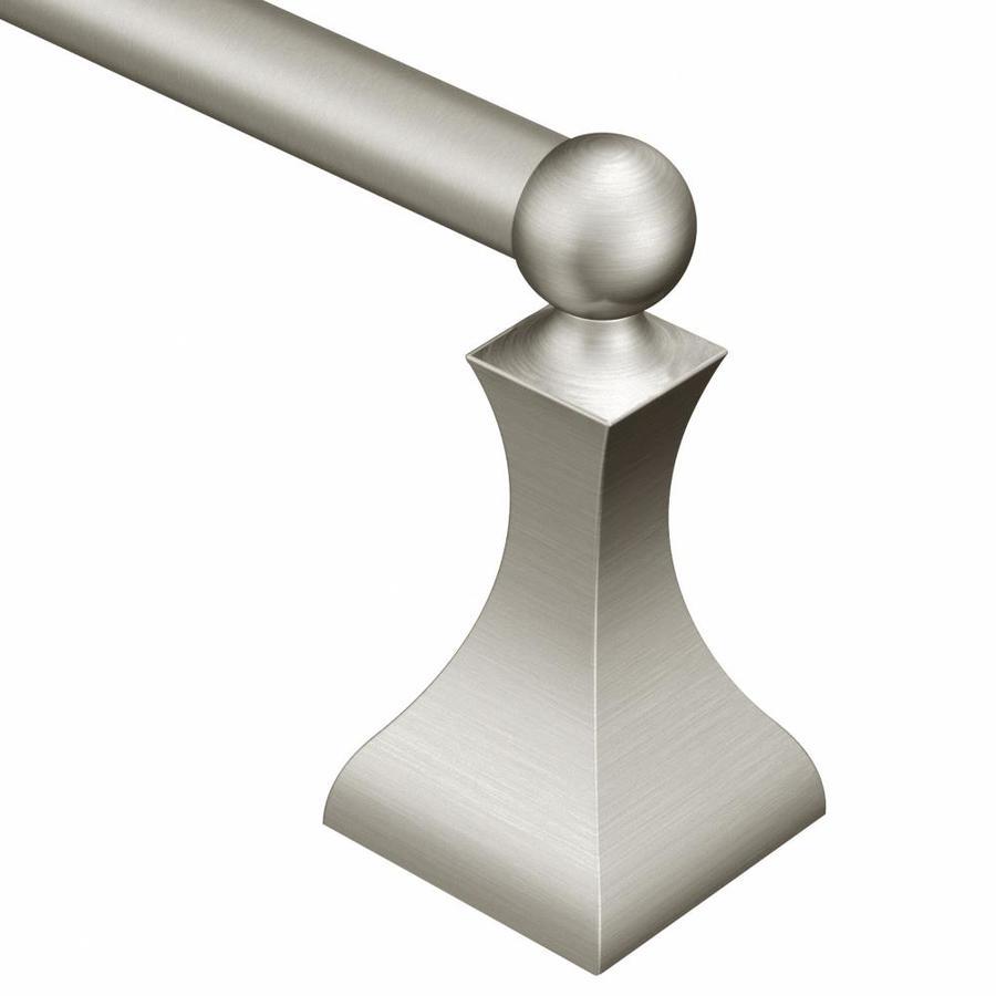 Moen Retreat Spot Resist Brushed Nickel Single Towel Bar (Common: 18-in; Actual: 19.73-in)