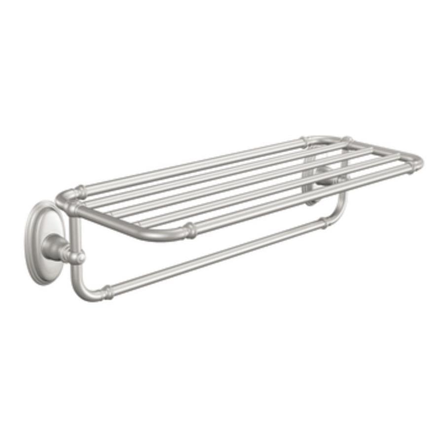 Moen Kingsley Brushed Nickel Rack Towel Bar (Common: 24-in; Actual: 26.8-in)