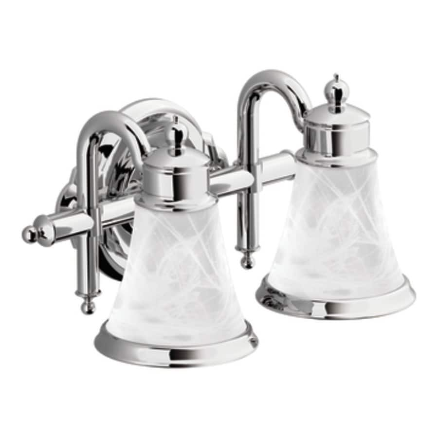 Shop Moen Waterhill 2 Light Chrome Vanity Light At