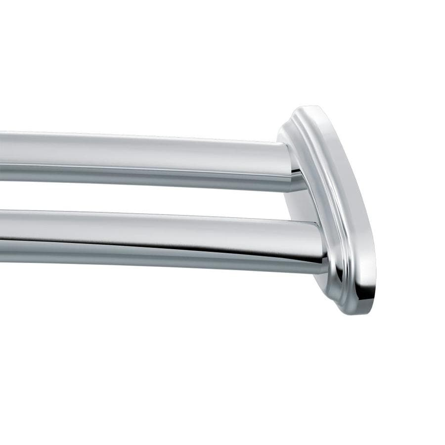 Moen 60-in Chrome Curved Adjustable Double Shower Curtain Rod
