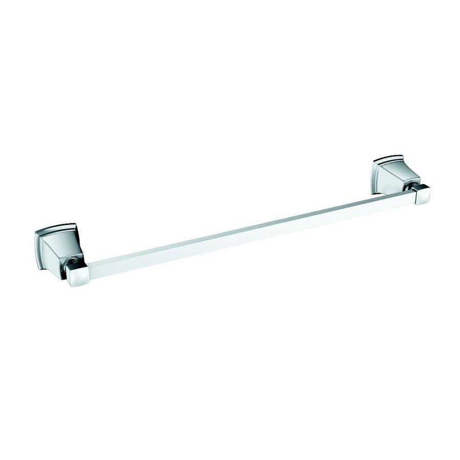 Moen Boardwalk Chrome Single Towel Bar (Common: 18-in; Actual: 20.06-in)