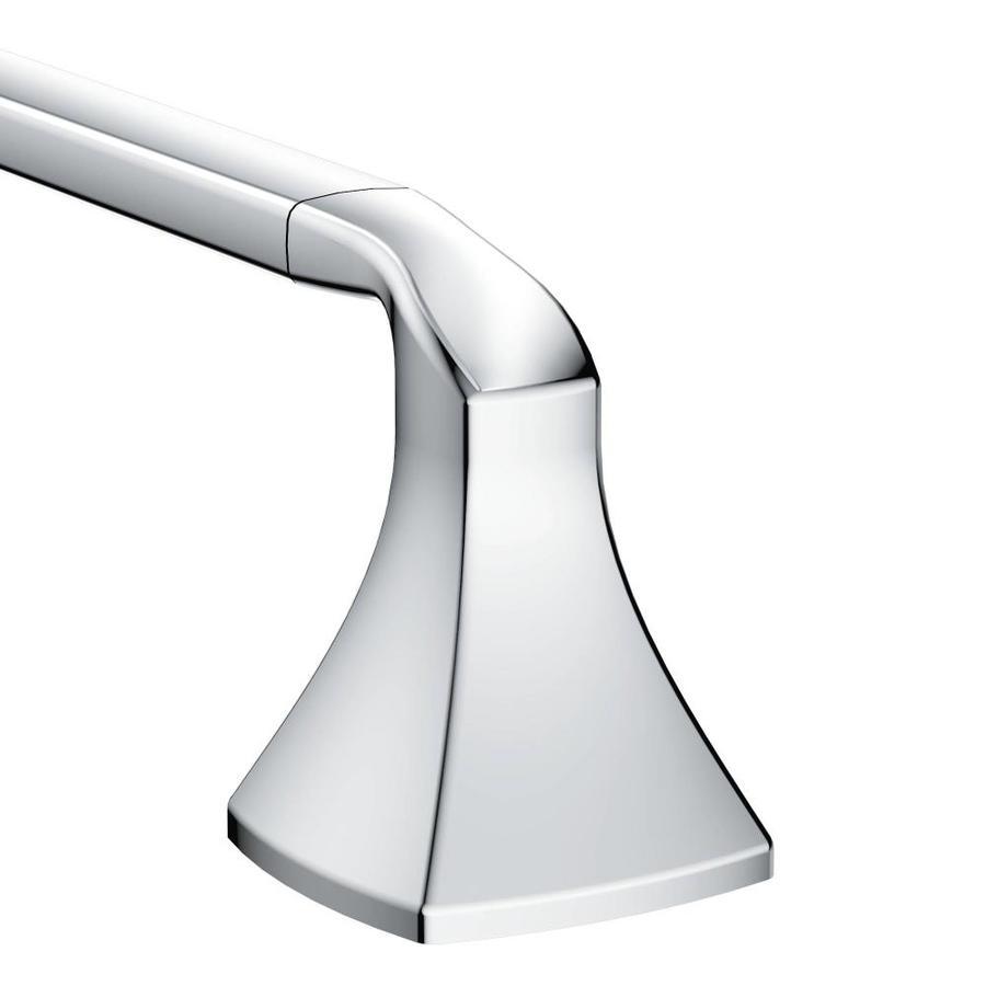 Moen Voss Chrome Single Towel Bar (Common: 18-in; Actual: 20.11-in)