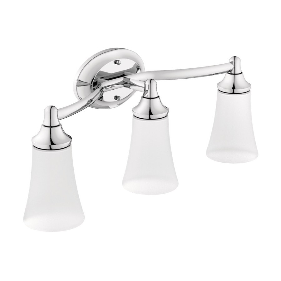 Shop Moen Eva 3 Light Chrome Vanity Light At
