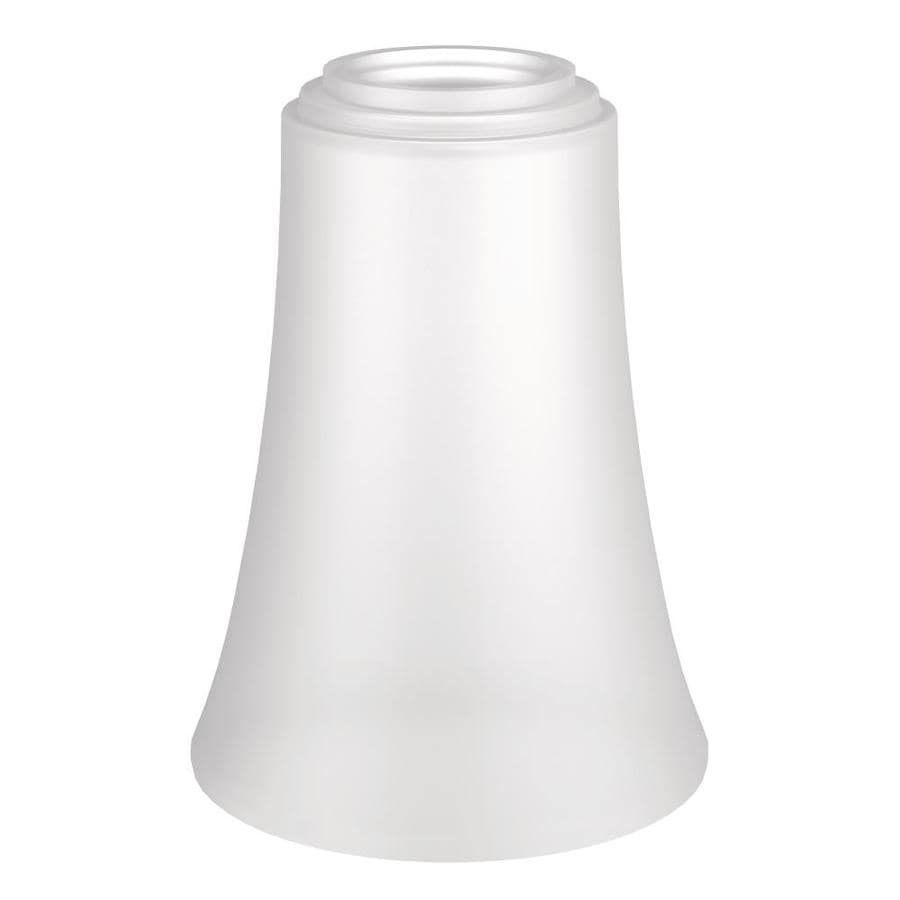 Vanity Light No Shades : Shop Moen Eva 4.23-in H 4-in W White/Frosted Vanity Light Shade at Lowes.com