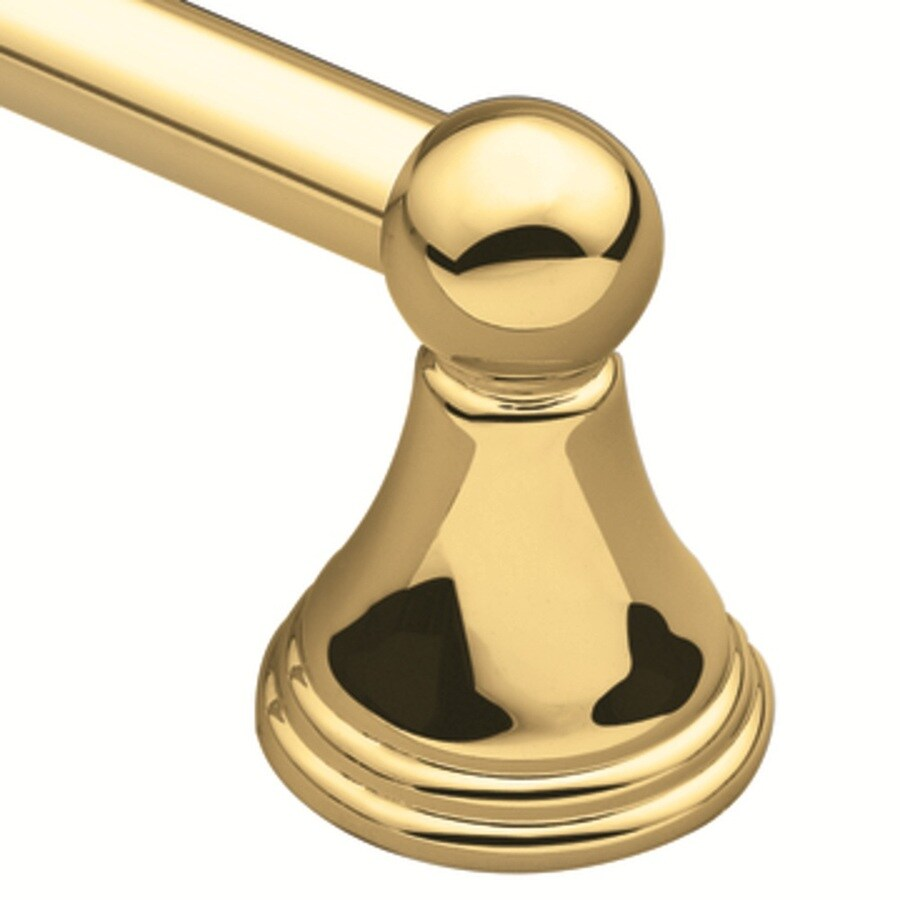 "Moen 24"" Preston Polished Brass Towel Bar"