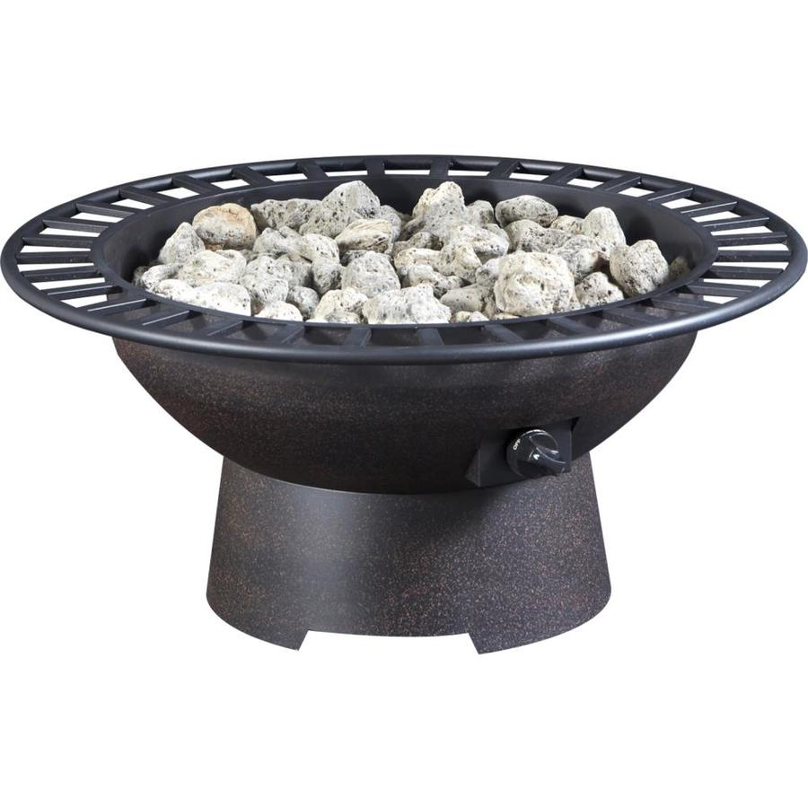 Garden Treasures 35-in W 50,000-BTU Copper Steel Propane Gas Fire Pit