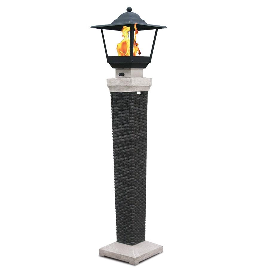 Bond Somersville 23.62-in W 15,000-BTU Wicker Look Composite Propane Gas Lantern