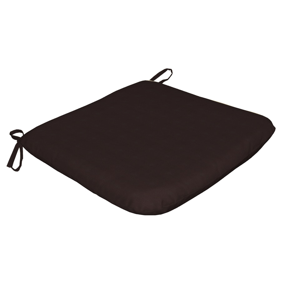 Arden Outdoor Black Solid Reversible Outdoor Seat Pad
