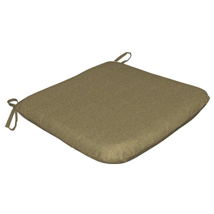 Arden Outdoor Sunbrella Cranston Linen Texture Reversible Outdoor Seat Pad