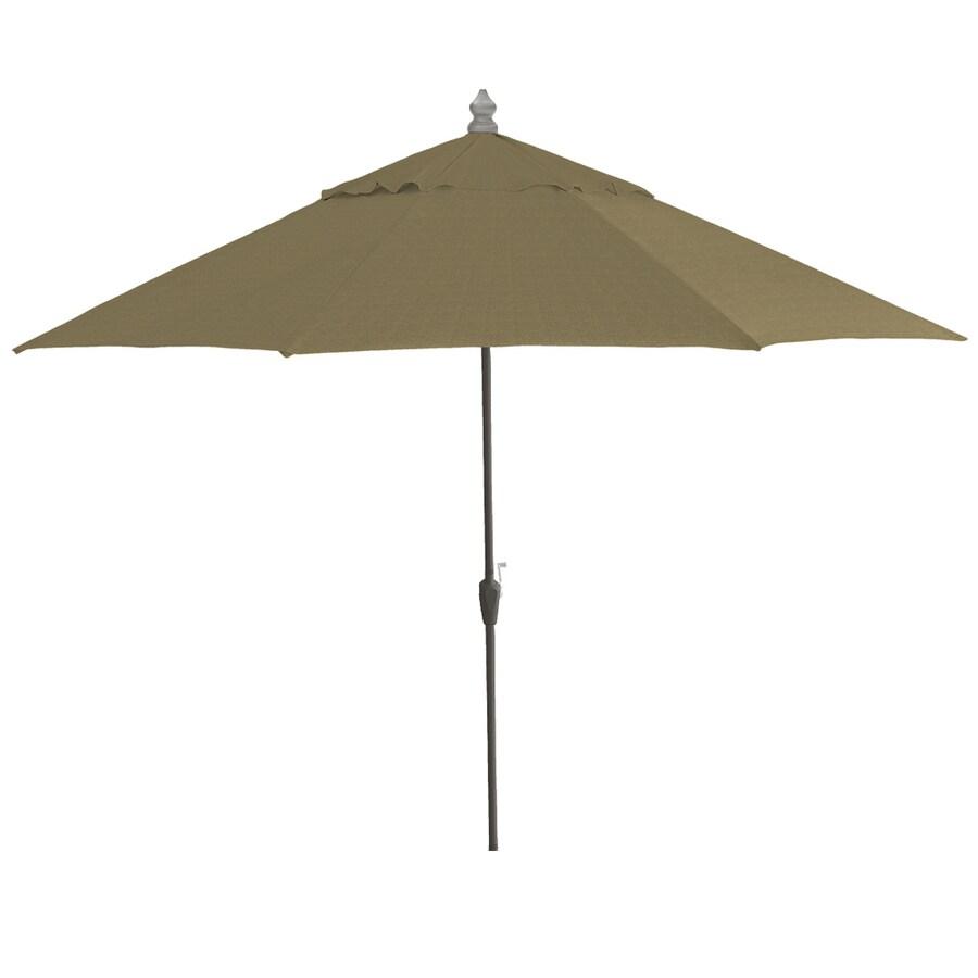 Shop 11 Ft Sunbrella Cranston Linen Textured Round Market