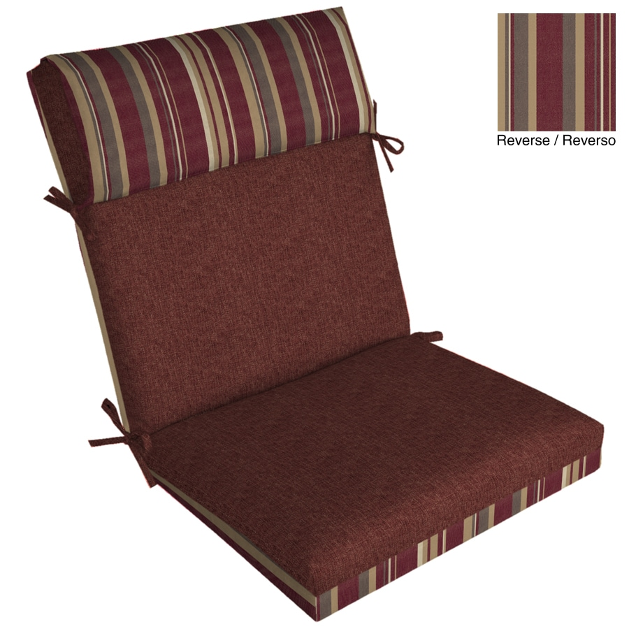 "allen + roth 44""L x 21""W Cabernet Red Texture Chair Cushion"